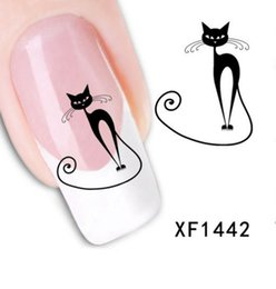 Wholesale Nail Decal Diamond - 10pcs lot Fashion 3D Design cute DIY cartoon colorful diamonds Tip Nail Art Nail Sticker Nails Decal Manicure nail tools XF1442