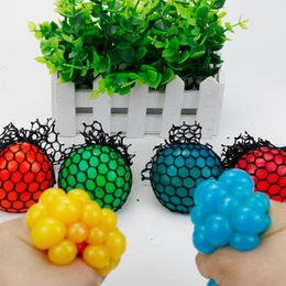 Wholesale Wholesale Splat Balls - 2017 Popular Adults Fidget Ball Toy 6cm Funny Squeeze Grape Colorful Splat Balls, DHL free shipping