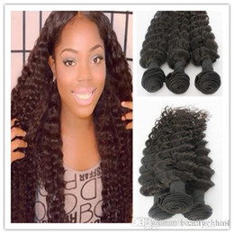 Wholesale Human Hair Wholesalers India - India virgin hair deep wave natural black 8pcs lot unprocessed India hair extension cheap remy human hair weave bundles4,6pcs lot