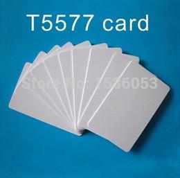 Wholesale hotel key cards - Wholesale- 200PCS RFID PVC Plastic card 125KHZ blank card ATMEL T5577 Hotel key card