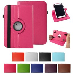 Wholesale Lenovo China Wholesale - Universal 360 Rotating Adjustable Flip PU Leather Stand Case Cover For 8 9 10 10.1 10.2 inch Tablet PC MID iPad Samsung