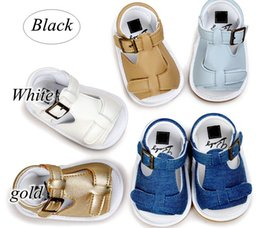Wholesale Baby Walking Sandals - Summer baby first walking shoes Fashion baby sandals Summer baby Buckle footwear 12 pairs lot (can mix styles and sizes) hot sale design