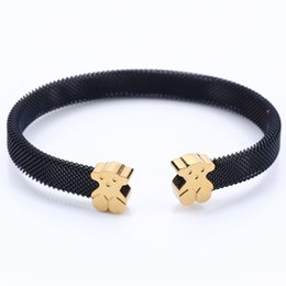 Wholesale New 14k Gold - TL Stainless Steel Bear Bangle Bracelet 4 Colors Fashion For Women Brand Jewelry Popular New Edition