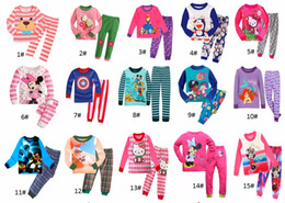 Wholesale Wholesale Winter Pajamas - New Pyjamas boy girl kids long sleeve pajama set baby cartoon pajamas sleepwear kids clothes set kids pajamas 6 sets l