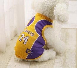 Wholesale Football Dogs - 8 Country World Cup Soccer Jersey For Dog Cool Breathable Dog Vests Puppy Outdoor Sportswear Football Clothes For Dogs XS-XXL