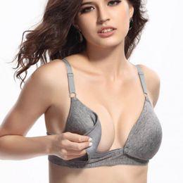beb5e421a 2017 New Maternity nursing bra Cotton Breastfeeding bra for Pregnant women  Pregnancy Breast feeding underwear clothing