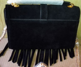 Wholesale Brown Suede Purse - Designer Brand Bag Women Purse Suede Black Tassel Shoulder Bag Cross-body Bag Five Colors Wholesale Retail Free Shipping
