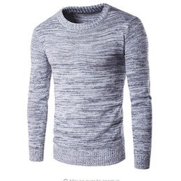 Wholesale Autumn Colored Sweaters - Wholesale- 2017 new autumn fashion brand casual sweater turtleneck high-necked men's knit sweater and pullover men's pure color head jacket