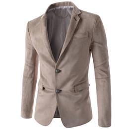 Wholesale Slimming Wedding Dresses Sleeves - Wholesale- Mens Solid Black Velvet Blazer Men Casual Slim Fit Suit Single Button Blazers Mens Suede Dress Outwear Wedding Dress Wholesale