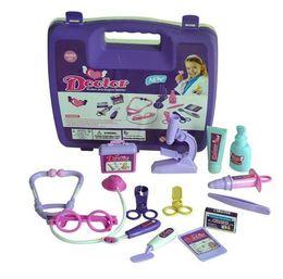 Wholesale Kids Medical Set - 3pcs lot Childrens Kids Role Play Doctor Nurses Toy Set Medical Kit Christmas Gift Toys for girls Boys Levert Dropship