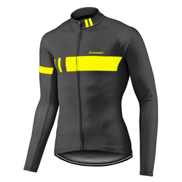 Wholesale Tour France Cycling Tops - Tour de France Pro Giant Cycling Jersey Ropa Ciclismo Bike Racing MTB Long Sleeve Bicycle Clothing Sportwear D0511