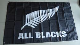 Latas de bandera online-Venta al por mayor: bandera de todos los negros, pancarta de todos los negros, tamaño 90X150CM, envío gratis 100% poliéster, puede personalizar el diseño