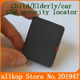 Wholesale Elderly Sos - Wholesale- New Version X009 GSM Sim Camera Recorder Voice with SOS and GPS tracker Child   Elderly   car security monitoring GPRS locator