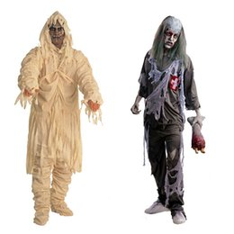 Wholesale Top Halloween Costumes For Women - Top Sale Halloween Costumes Performances for Men Women Masquerade Show Costumes Scream Zombie Mummy Devil Ghost Cosplay