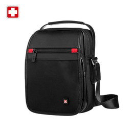 Wholesale Plain Ipad Cover - Wholesale-Swisswin messenger Shoulder Bag 11' black bag for Ipad handy crossbody bag for students casual oxford messenger satchel swe9030