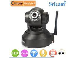 Wholesale Wireless Alarm System Wifi - Sricam SP005 Alarm Security Camera Night Vision IP Camera 720P Wifi Systems Home Wireless Camera ( Black)