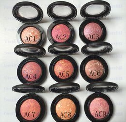 Wholesale Mineralize Blush Fard Joues - Free shipping epacket!1PCS 9 style 3.2g AC1-AC9 high quality MINERALIZE BLUSH FARD A JOUES eye shadow HZP006-080