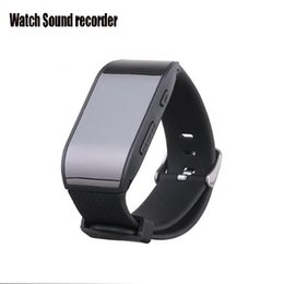 Unterhaltungselektronik Digital Voice Recorder Digital Voice Recorder Uhr Audio Recorder Diktiergerät Sport Wearable Wrist Band Schrittzähler Wasserdicht 8g Aufnahme Mini Mp3