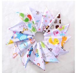 Wholesale Baby Bandanas - PrettyBaby Organic Cotton Double Layers Kids Baby Bibs Towel Bandanas Triangle Burp Saliva Infant Toddler Bandana Scarf