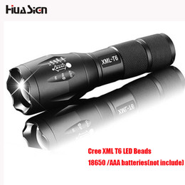 Wholesale Torch High Quality Diving - High Quality CREE XML T6 flashlight Zoomable led lanterna Torch lights for Camping Hunting outdoor sports