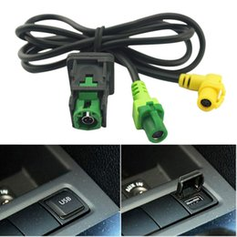 Wholesale usb golf - FEELDO Car OEM RCD510 RNS315 USB Cable With Switch For VW Golf MK5 MK6 VI 5 6 Jetta CC Tiguan Passat B6 Armrest Position #1698