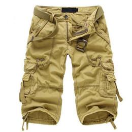 Wholesale Men Camouflage Cargo Shorts - Wholesale-Men Shorts Army Cargo Shorts Pockets Design Trousers High Quality Cotton Design Camouflage New Fashion 016