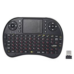 Wholesale Tv Version Tablet - Russian English Version M2S 2.4GHz Wireless QWERTY Keyboard Fly Air Mouse with Touchpad for TV Box Tablet PC Smart TV