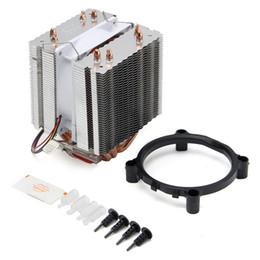 Wholesale Cpu Processor I7 - Wholesale- Newest Ultra Quiet Computer CPU Cooler Fan CPU Cooler Heatsink Four Heat Pipe Radiator For Intel LGA775 Core i7 AMD FM2 AM