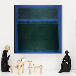 Wholesale Modern Mark - ZZ172 modern abstract canvas prints art mark rothko green blue color canvas oil art painting for home decoration unframed prints