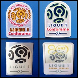 Wholesale Hot Badge - top quality 2016 2017 2018 Ligue 1 80 ANS 1932-33 golden football patches badges,Soccer Hot stamping Patch Badges