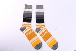 Wholesale Trading Process - Export trade stockings with color jacquard striped socks high quality cotton socks and non-bone sewn process cotton socks