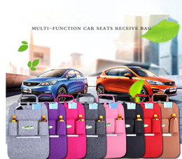 Wholesale Organizing Storage Bag - 8 color Multifunction Hanging Organizer Car Sundries Holder Multi-Pocket Travel Storage Bag Hanger Backseat Organizing bag KKA2001