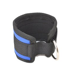 Wholesale Wrist Ankle Bands - Wholesale- Ankle Strap Ankle Wrist Cuff Ankle Strap Gym Band D Ring Multi Training Ring Attachment