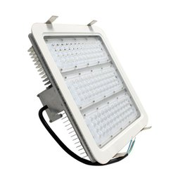 Wholesale led high bay lights - Explosion proof LED canopy lights finned radiator 100W 150W 180W high bay light for GAS Station light warehouse lamp Meanwell 5year warranty