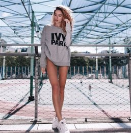 Wholesale Parks Prints - New Ivy Park Sweater Soft Femme Liberte Sweater Jumper Top Ivy Park Jumper Beyonce Same Style Letter Print Hoodies Long Sleeve Sweatshirts