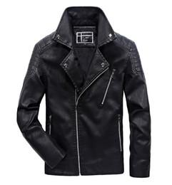 Pelz-jacke mens online-L-5XL Jacken Herren Große Jungen Herbst Mäntel Warme Mantel Pelzjacken Windbreaker Outwear Reißverschluss V-ausschnitt Joobox Neue Ankunft 2017