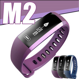 Wholesale Smart M2 - M2 Smart Watch Wristbands Bluetooth 4.0 Fitness Sport Bracelet Smartband for Apple iPhone Android Samsung Sony Heart Rate Smartwatch