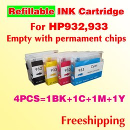 Wholesale Ink 932 Hp - 932 refillable ink cartridge 933 refill ink cartridge compatible for 6100 6600 7612 6700 7610 7110 freeshipping