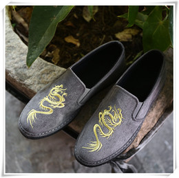 Wholesale Handmade Cloth Shoes - 2017 Handmade cloth shoes are China style embroidery stitches Doug shoes casual shoes