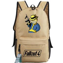 Pacotes de armas on-line-Gun Fallout 4 mochila Jogo saco de escola Fallout4 mochila Hat Pipboy mochila mochila ao ar livre pacote do dia do esporte