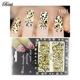 Wholesale Leopard Nail Foil - Bittb Nail Art Sticker Leopard Animal Skin Fingernail Care Beauty Make Up Nail DIY Manicure Makeup Tool Foil Nail Decal