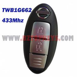 Wholesale Entry Control - N0030 Smart key keyless entry 2button with emergency key 433.9Mhz for Nissan Qashqai X-TRAIL Car key control