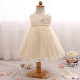 Wholesale Christening Gowns For Newborns - Newborn Baby Girl Princess Clothing 1 Year Birthday Party Dress Toddler Baby Girl Christening Gown Dresses for Infant 0-24 Months