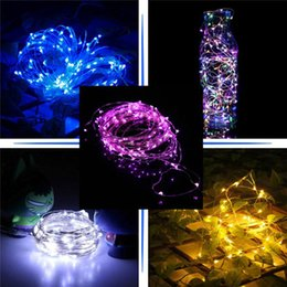 Wholesale Battery Operated Warmer - 2M 3M 4M Party Xmas led 3*AA batteries Power Operated 20 30 40 LEDs copper wire(with silver color) String Light Lamp