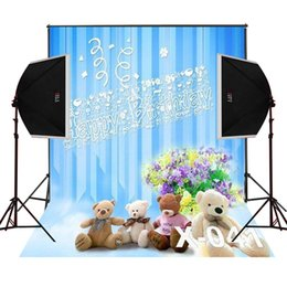 Wholesale Bunch Toys - happy birthday toy bears bunch flowers photo background newborn photos studio digital props camera fotografica vinyl photography backdrops
