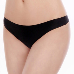 Wholesale Boyleg Underwear Women - 2016 ultra thin seamless thong plain cheeky panties low waist T-back hot women g-string sexy invisable lady boyleg hot underwear
