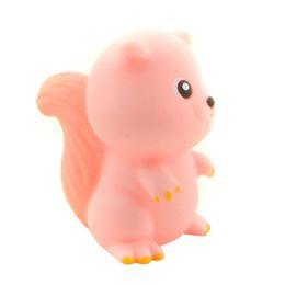 i giocattoli all'ingrosso della spremuta del bambino Sconti Wholesale- Starz Cute Mini Squirrel Soft Rubber Squeeze-Sounding Dabbling Animal Toy Classico Baby Kid Educazione Giocattoli da bagno