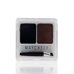 w powder Coupons - Wholesale- Beauty Cosmetic Eyebrow Powder Eye Brow Palette Makeup Shading Kit w  Brush