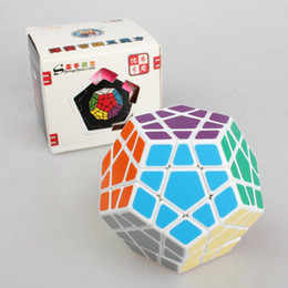Wholesale Megaminx Cube - 2017 NEWEST 12 sides Shengshou Megaminx cube Magic Dodecahedron Blocks Puzzle Magic Cubes Learning&educational Cube Magic Toys For Children