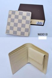 Wholesale Small Leather Wallet Pocket - Promotion new mens leather top Wallet Men 2017 Brand Coin Wallet Small Clutches Men's Purse Coin Pouch Short Men Wallet plaid flower white b